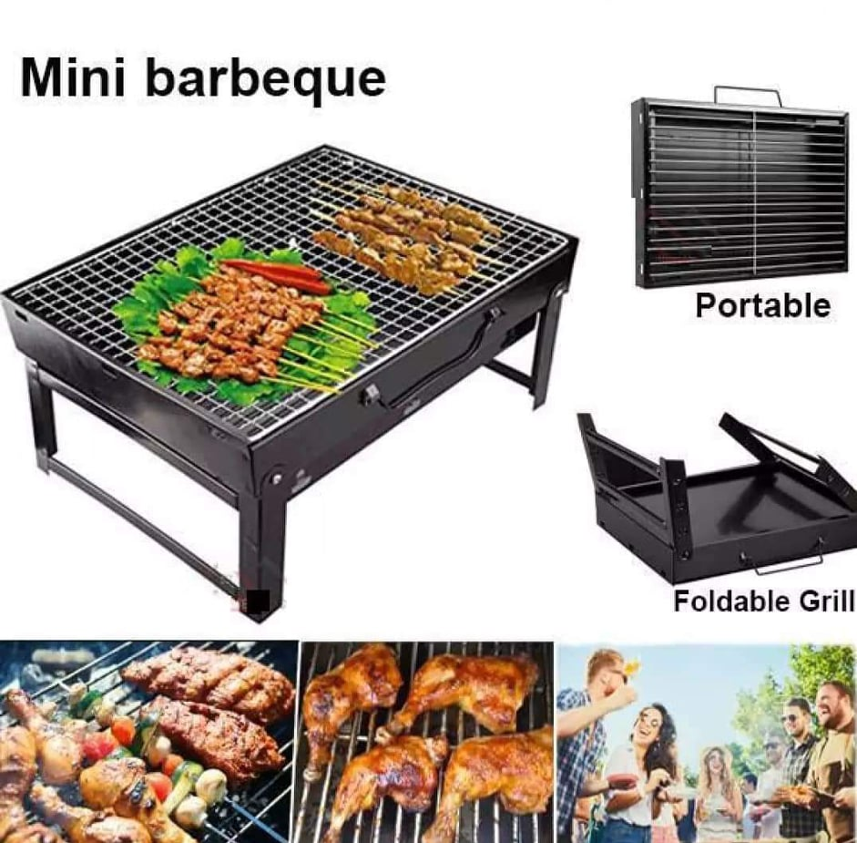 Foldable Outdoor Portable Tabletop Charcoal BBQ Grill Barbecue Camping Cooking Stainless
