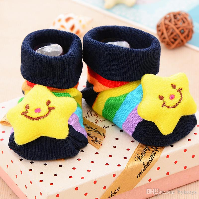 2 Pair/Lot Newborn baby Soft Cartoon Socks Boot (Color May Vary)