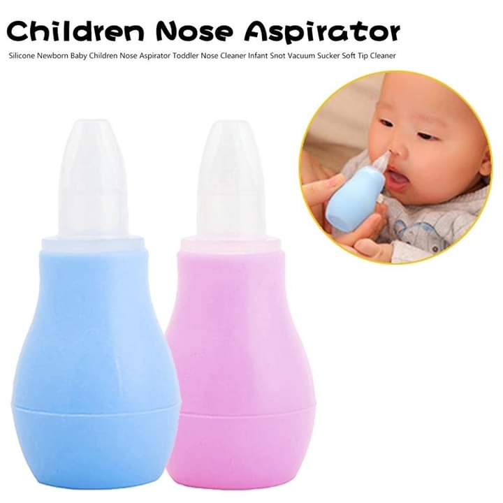 Safe Soft Silicone Baby Nasal Aspirator Baby Cleaning Pump
