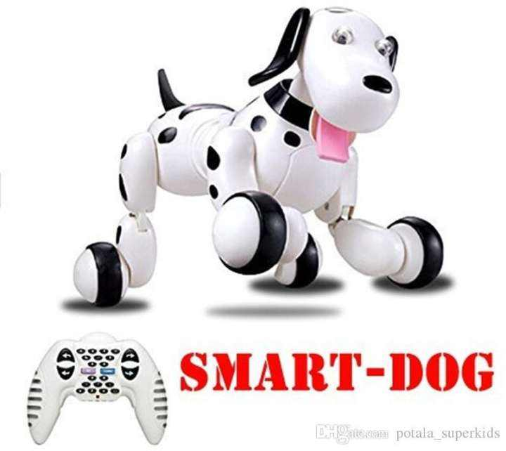 Birthday Gift Rc Zoomer Dog 2.4G Wireless Remote Control Smart Dog Electronic Pet Intelligent Educational Children'S Toy Robot Rc Lovely Dog