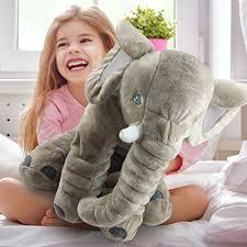 Elephant Long Nose Doll Sleep Pillow Lovely Plush Baby Kids Lumbar Soft Cushion (small size)