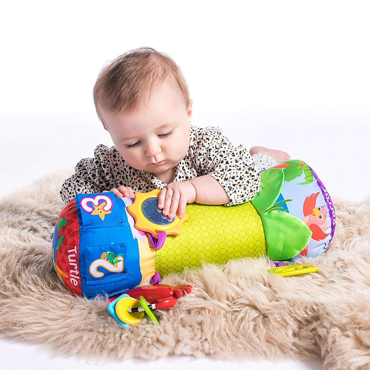 Baby Rhythm Of The Reef Prop Pillow Kids Tummy Time Activity With Toy ( Month 3+)