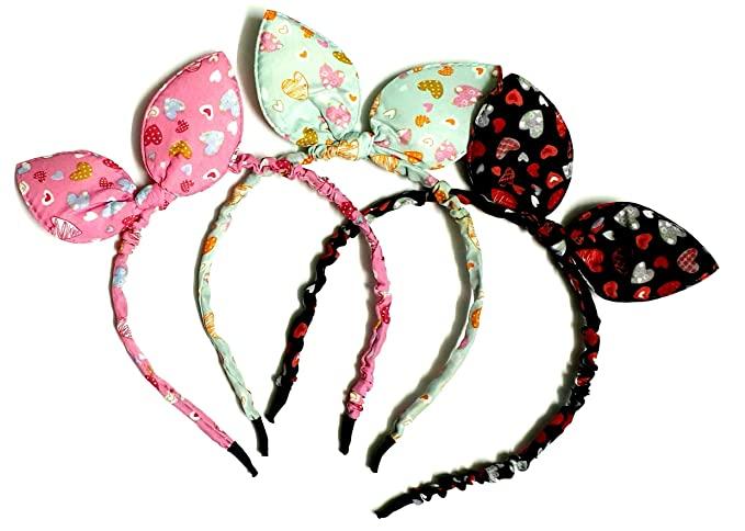 Multi-Coloured Baby Girl Hairband Rabbit ( 3 Pic Multi Color )