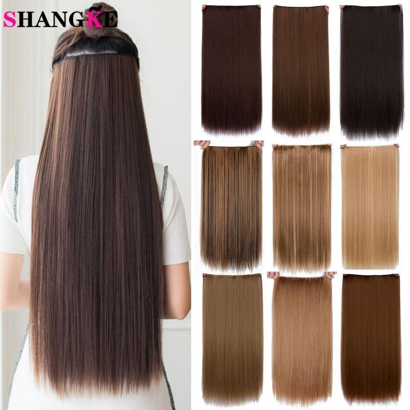 Long Straight Synthetic Hair Extension Piece