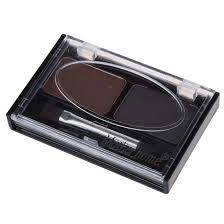Waterproof Eyebrow Shaping Powder Eyeshadow - Grey And Black