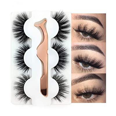 5D Fake Hand-Made Eyelashes Fluffy Long Soft Reusable Lashes- 3 Pair Pack
