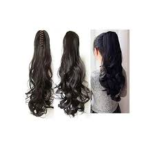 Synthetic Straight-Curls Ponytail With Clip Hair Extension Wig For Women (Mix )