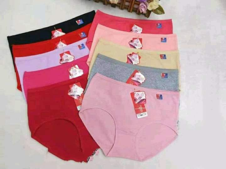 Women 10 Pcs Yageting Cotton Panties / Underwear Combo Pack(Color May Vary)