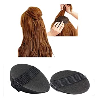 Set Of 2Pc Hair Puff Up Volumizer Oval Hair Puff Maker Hair Style Accessory