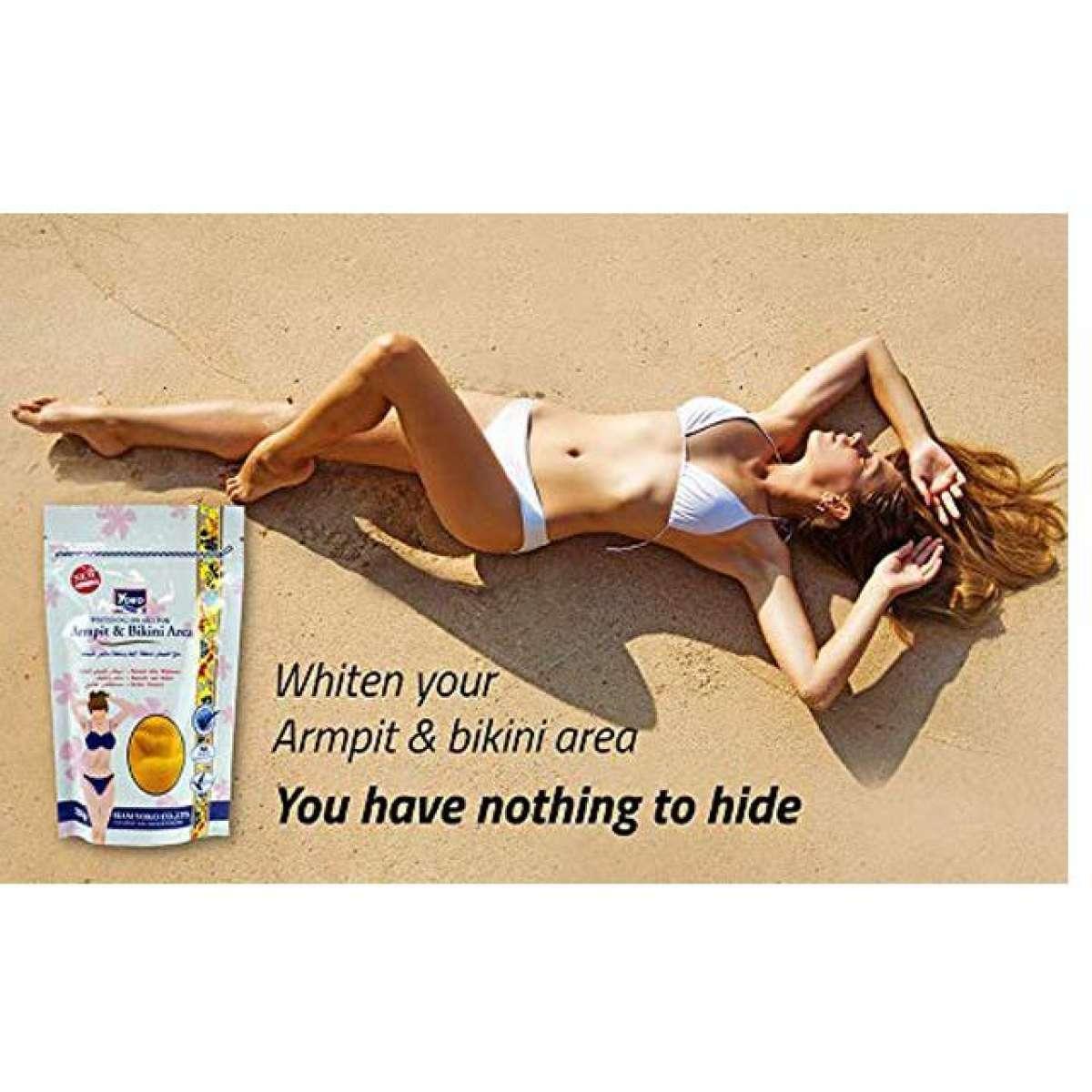 Bikini Salt Whitening Spa Salt For Armpit & Bikini Area 220g.(Different Flavors)