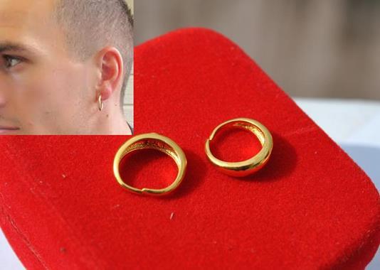 Hoop Earring One Pair Gold Endless