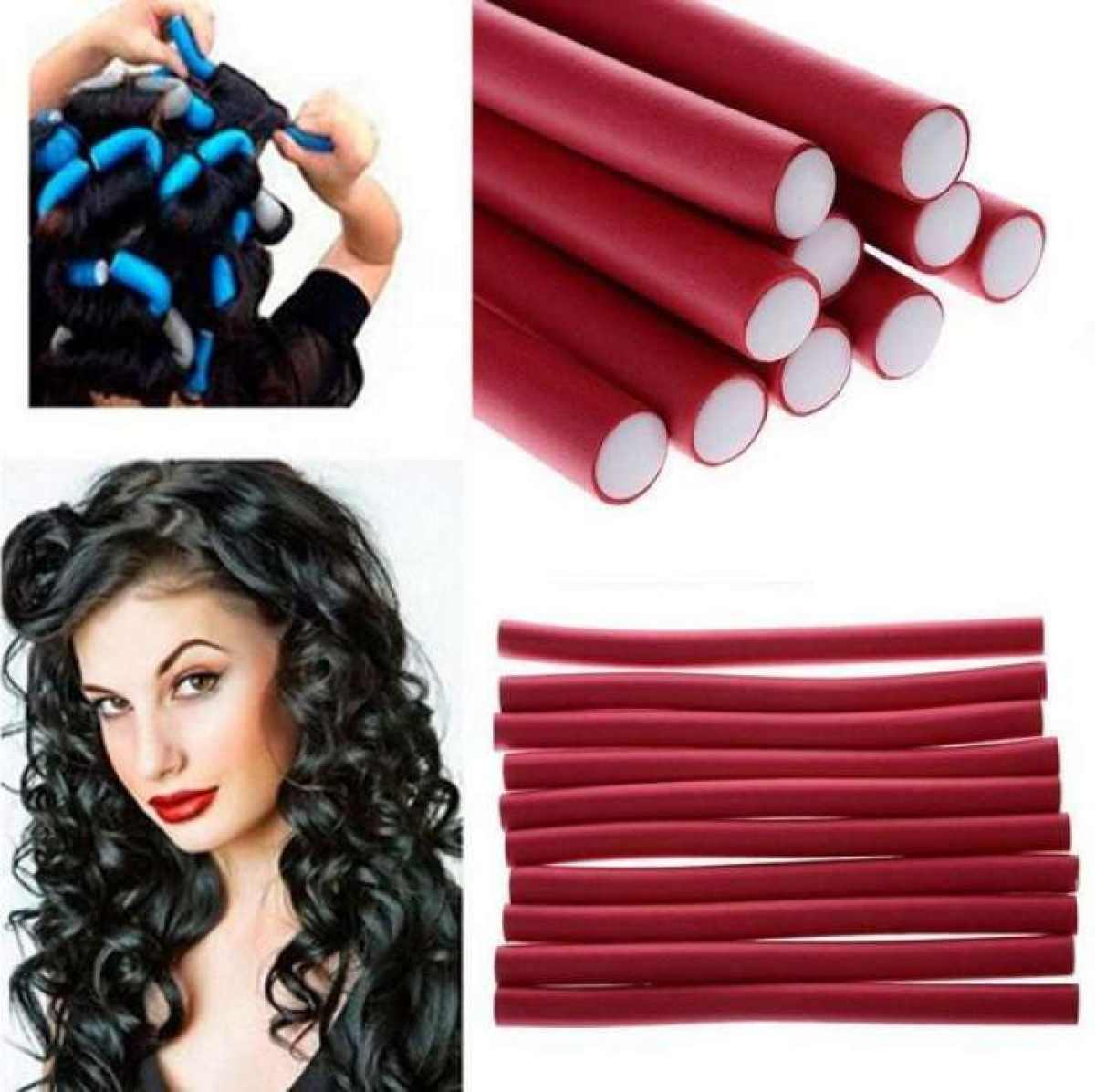 Self Holding Rubber Hair Curler (Pack Of 5)