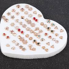 36 Pair Small Earring Top Set
