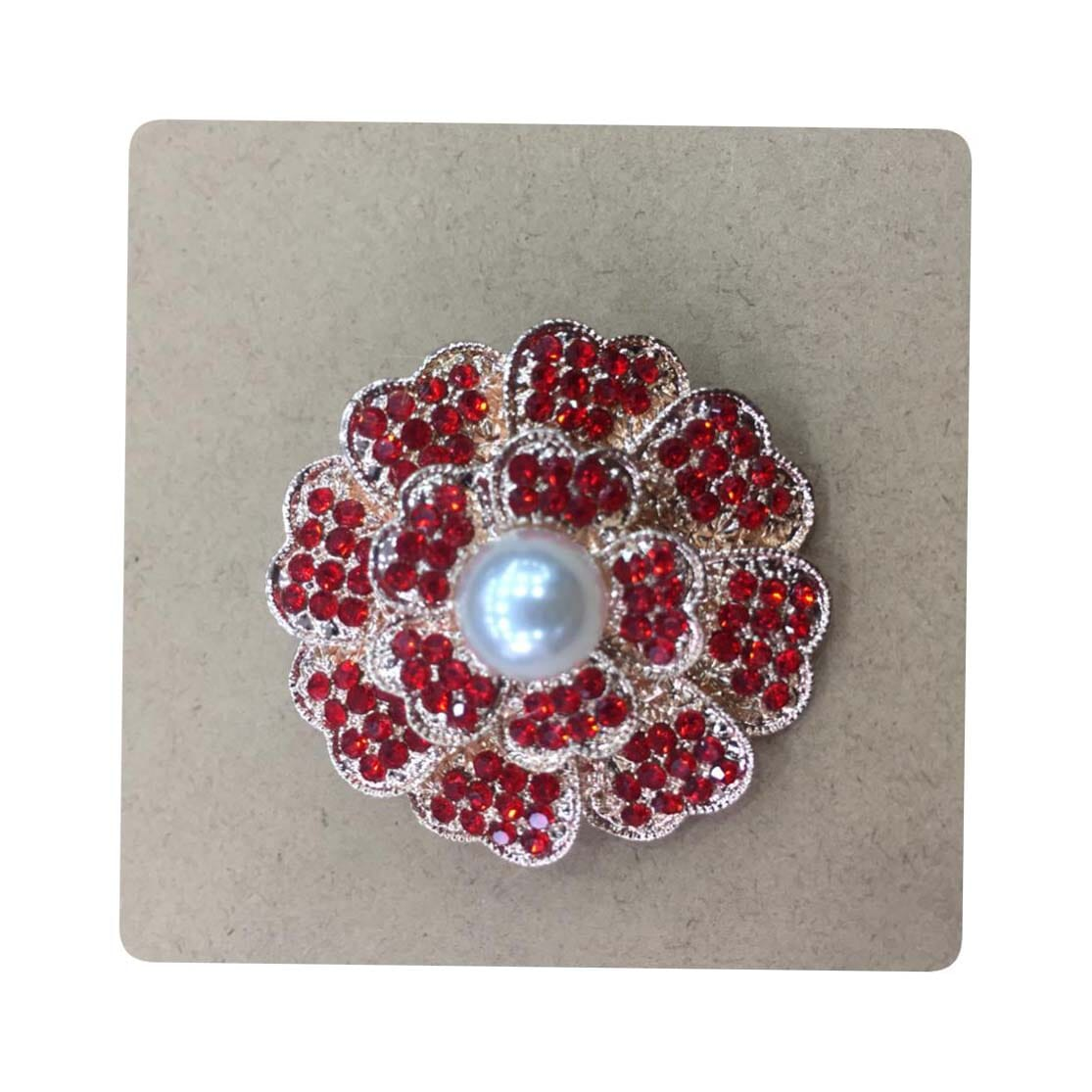 Red Round Design Saree Pin Brooch For Women