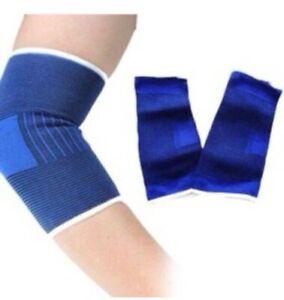 2 X Elasticated Elbow Support Sleeve Bandage Arm Brace Wrap