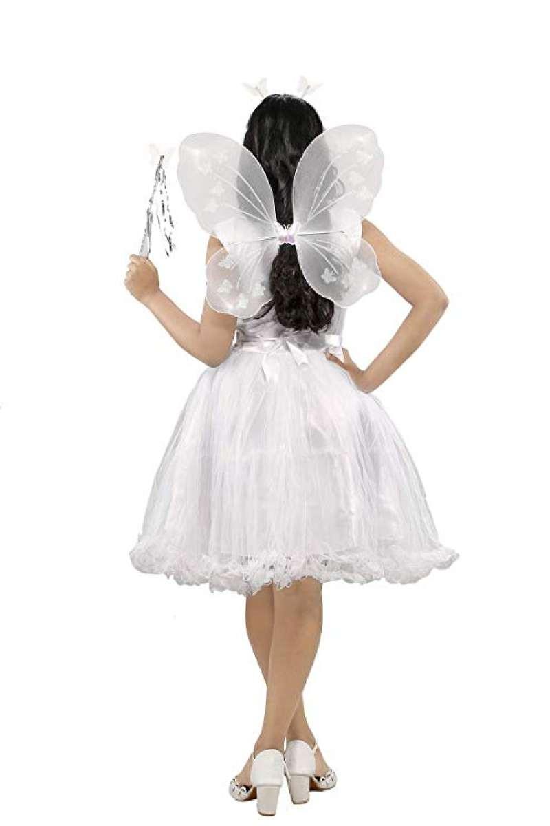 Baby Girls Angel Pari Wings Butterfly Hairband Magic Stick Kids Halloween Fancy Dress Costume