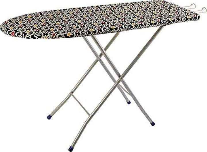 36*12 Inch Heavy Folding Ironing Board / Iron Board Table With Iron Stand For Home (Color May Vary, Assorted Color)