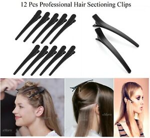 12 Pieces Hair Sectioning Styling Cutting Clips Saloon Professional Tool