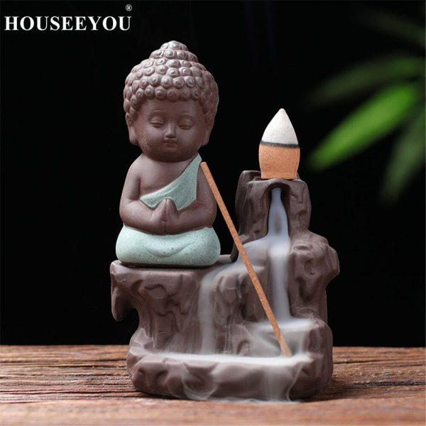Backflow Incense Burner Waterfall Buddha