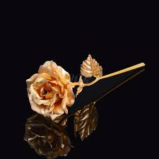 Gold Foil Trim Red Artificial Rose Flower Long Stem With Transparent Stand, Best Gift For , Mothers Day, Anniversary, Wedding, Birthday Gift, Treating Yourself