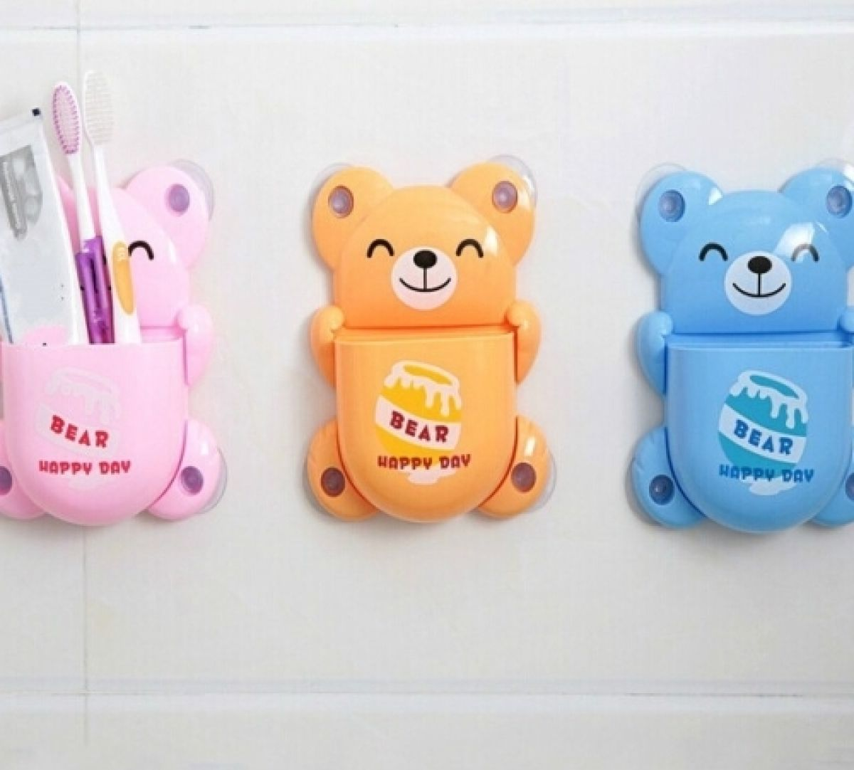 Bear Toothbrush Holder (1 Piece) Color May Vary