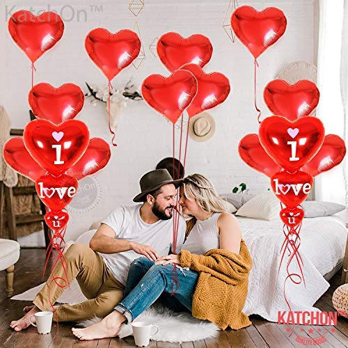 Heart Shaped Balloons (Red) - Pack of 100