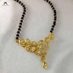 Gold Plated mangal sutra (Flower Design)