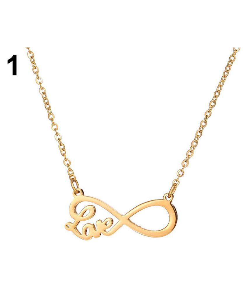 Elegant Love Design Pendent With Chain