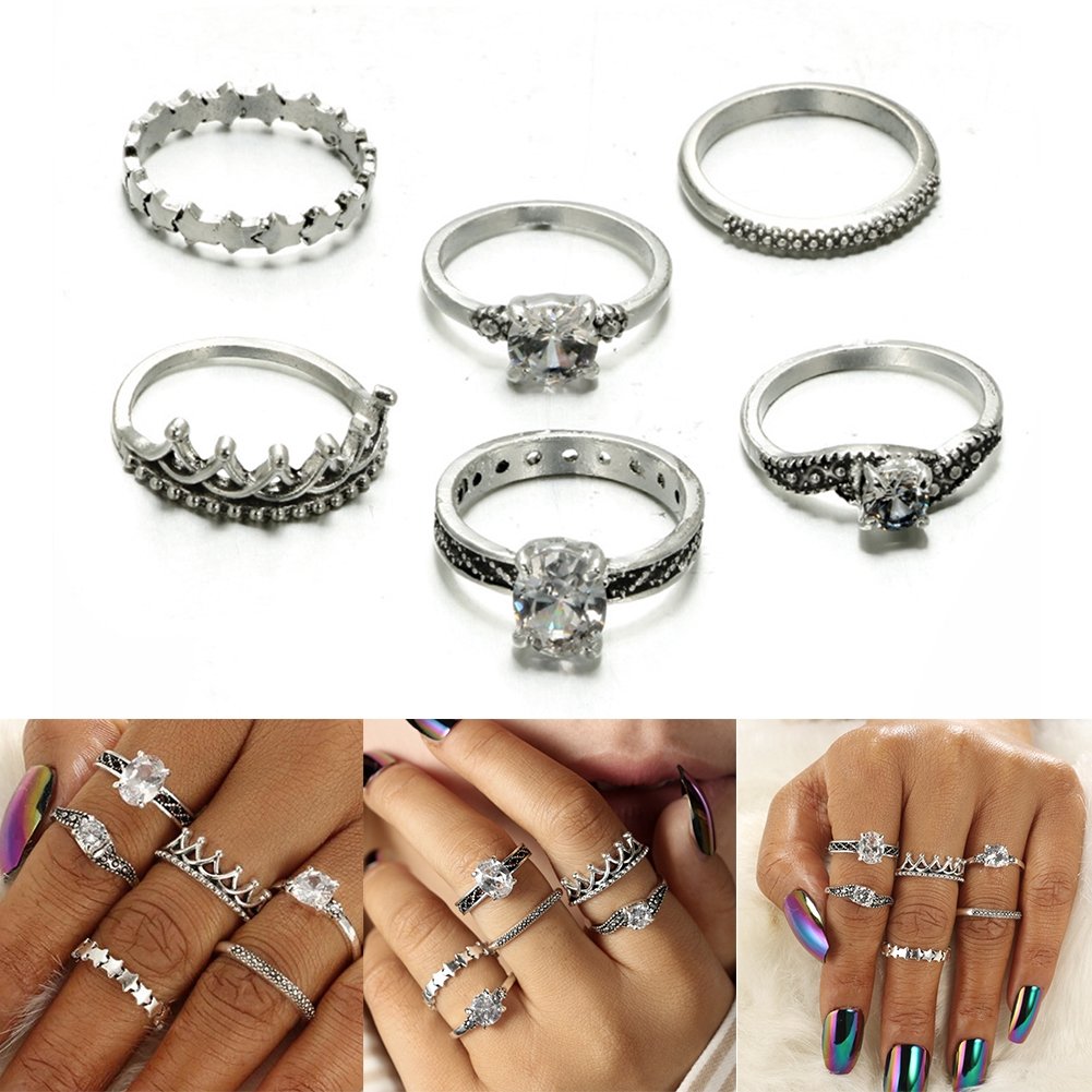6 Piece Ring For Women