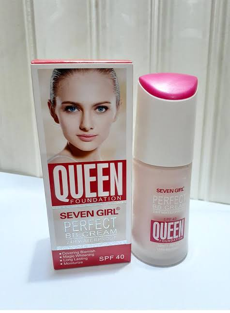 Queen Foundation Seven Girl Perfect BB Cream 24H Waterproof SPF40, 50MLml