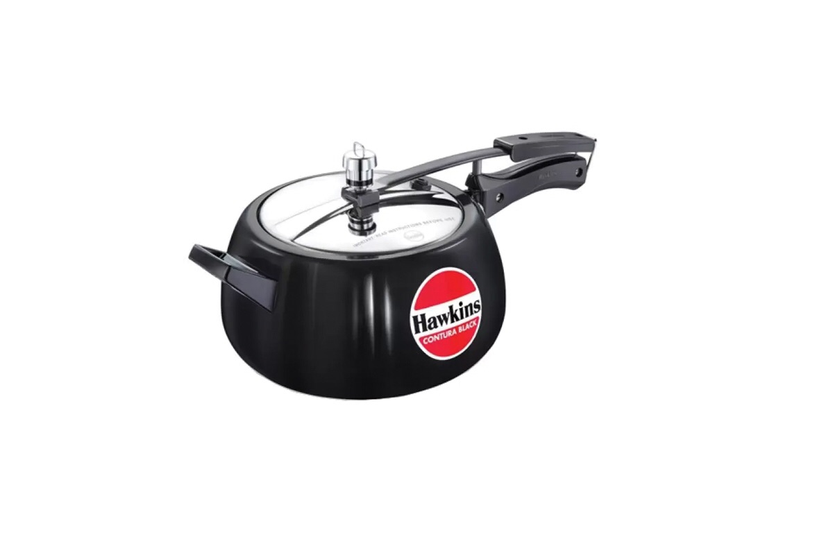 Hawkins Contura Black 5 Ltr Pressure Cooker (Aluminium)