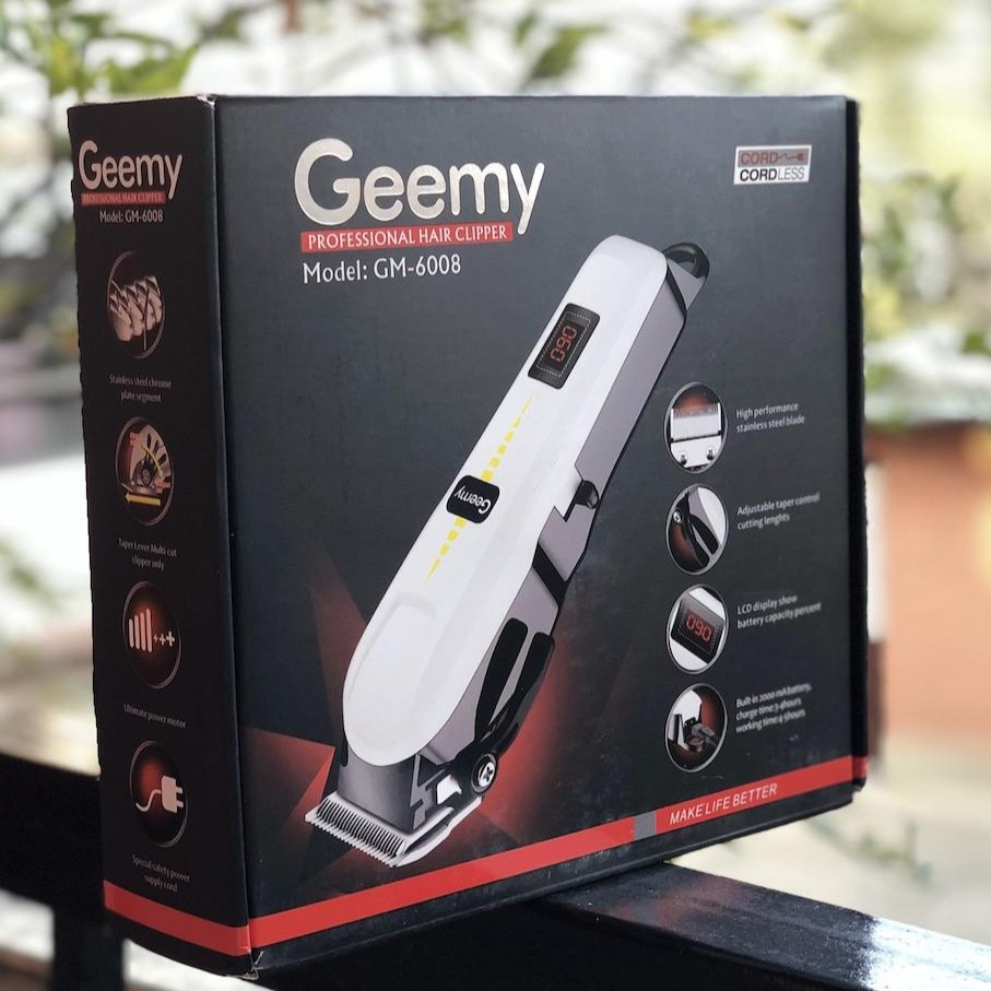 Geemy Professional Hair Clipper, Rechargeable Hair Cutting Machine, Grooming Kit Cordless Hair Clipper