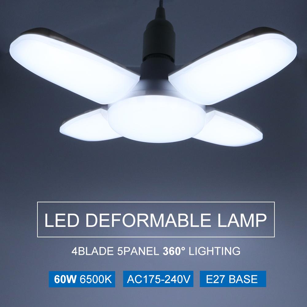 60W Led Deformable Lamps B22 Universal 165-265V Bulb