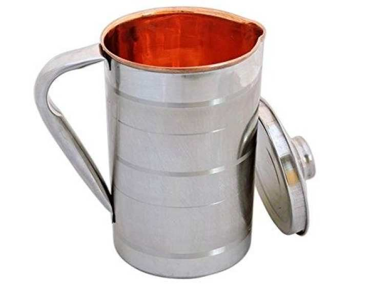 Diamond Stainless Steel With Inner Copper Water Jug - 2 Liters